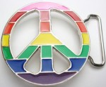 multicolor peace sign