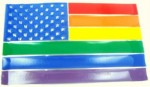 gay pride usa flag belt buckle
