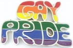 gay pride cutout belt buckle