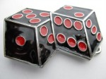 dices black and red cut out belt buckle