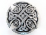 tribal gray and black round belt buckle