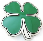 4 leaf clover belt buckle cut out green